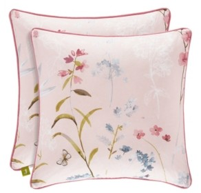 """J Queen New York J by J Queen Beatrice Rose 18"""" Square Decorative Throw Pillow Bedding"""