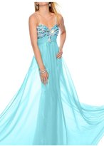 Vienna Bride Charming Spaghetti Sequin Maternity Empire Evening Gown Long Dress-US size