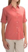 White Sierra Gobi Desert Shirt - UPF 30+, 3/4 Sleeve (For Women)