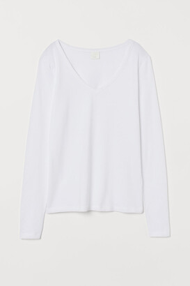 H&M V-neck Top - White
