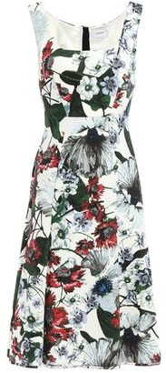 Erdem Flared Floral-print Ponte Dress