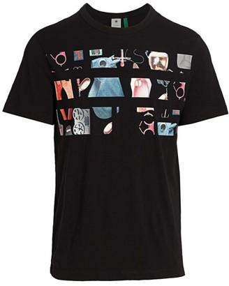 G Star Photo Cutout Graphic T-Shirt