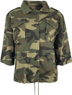 Margaux Camo Cropped Jacket