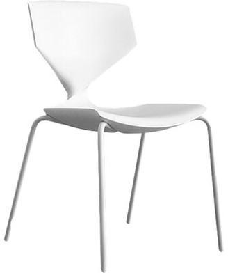 Sandler Seating Quo Armless Stackable Chair Finish: White