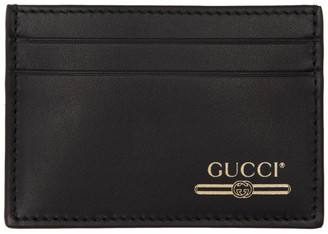 Gucci Black Money Clip Card Holder