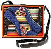 Mary Frances High-Heel Shoebox Handbag