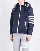 Thom Browne Striped-sleeve Quilted Jacket