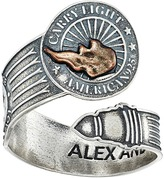 Alex and Ani Liberty Copper Carry Lighttm Spoon Ring Ring