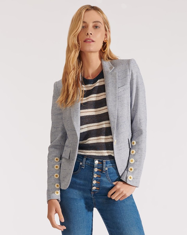 Veronica Beard Shayla Button-Sleeve Dickey Jacket