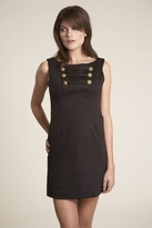 Corey Lynn Calter Nellie Button Detail Dress in Black