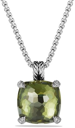 David Yurman Chatelaine Pendant Necklace with Semiprecious Stone and Diamonds