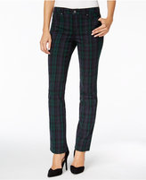 Charter Club Petite Lexington Plaid Straight-Leg Jeans, Only at Macy's