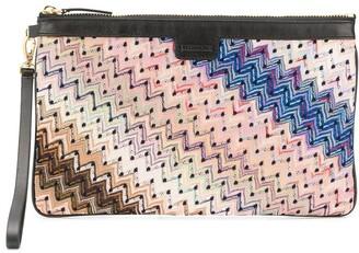 Missoni Zig-Zag Embroidered Clutch Bag