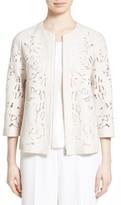 Lafayette 148 New York Women's Hadara Embroidered Cutout Jacket