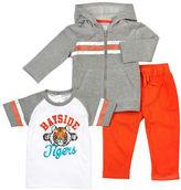 Petit Lem Baby Boys Three-Piece Sweatshirt, T-Shirt and Pants Set