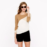 J.Crew Collection cashmere button-back sweater in colorblock