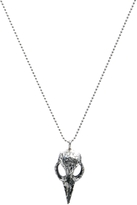 Fashionolgy Bird Skull Necklace
