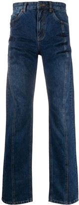 Y/Project High Waisted Straight Leg Jeans