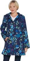 Dennis Basso Water Resistant Printed Jacket with Trim