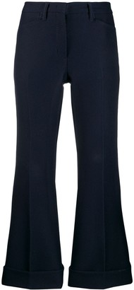 No.21 turn-up hem tailored trousers