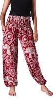 Bangkokpants Women's Yoga Pants Boho Elephant Design Us Size 0-12