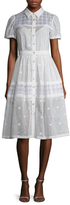 Temperley London Etta Cotton Embroidered A Line Dress