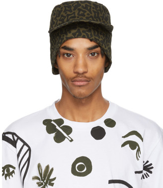 Marni Green Camo Workwear Cap