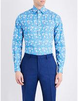 Duchamp Floral-print Tailored-fit Cotton Shirt
