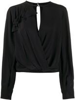 Pinko key-hole long sleeve blouse
