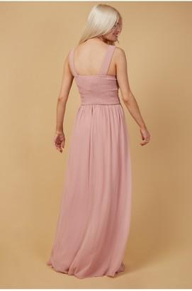 Little Mistress Grace Sweetheart Maxi Dress With Embellishment