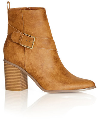 City Chic Tara Ankle Boot - caramel