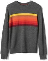 Gap Chest-stripes crew sweater