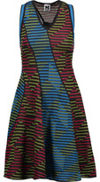 M Missoni Paneled Crocheted Wool-Blend Mini Dress