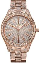 JBW Women's Crystal Diamond 18K Rose Gold-Plated Stainless Steel Watch, 39mm