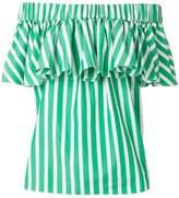 Maison Rabih Kayrouz striped off-shoulder blouse