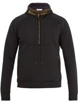 Tomas Maier Hooded Scuba-jersey Half-zip Sweatshirt
