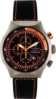 TP Men's 45 MM ORANGE Aluminum Case Black and Orange Dial Chronograph Tachymeter Date Watch