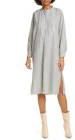 Nili Lotan Samantha Long Sleeve Cotton Canvas Dress