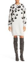 McQ by Alexander McQueen Women's Flocked Swallow Classic Sweatshirt Dress