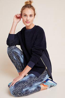 Varley Kerri Side-Zip Sherpa Sweatshirt By in Blue Size XS