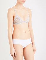 Calvin Klein Sheer Marquisette stretch-mesh and lace triangle bra