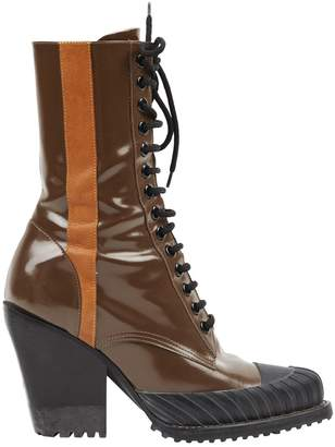Chloé \N Brown Patent leather Boots