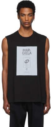 Maison Margiela Black Garment Dyed Sleeveless T-Shirt