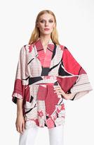 Emilio Pucci Elisse Print Crepe de Chine Kimono
