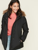 Old Navy Hooded Faux-Fur Trim Parka for Women