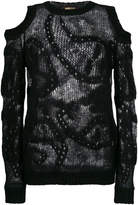 Roberto Cavalli cut-out shoulder sweater
