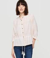 Lou & Grey Drawstring Button Down Shirt
