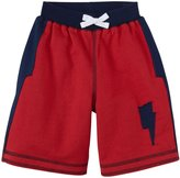 Kapital K Bolt Terry Shorts (Toddler/Kid) - Fire Engine-6 Years