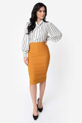 Unique Vintage Tracy Wiggle Skirt