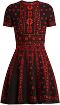 Alexander McQueen Floral intarsia-knit dress
